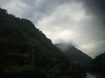 Mist swirling around the hilltops