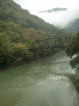 Bridge over the Mirna river in Slovenia